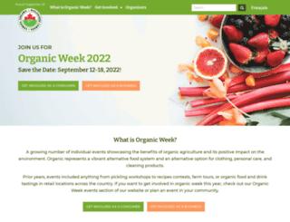 organicweek.ca screenshot