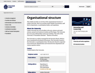 organisation.leiden.edu screenshot