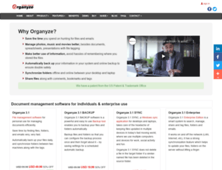 organyze.com screenshot