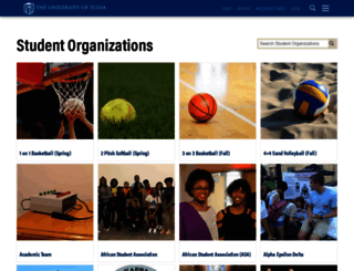orgs.utulsa.edu screenshot