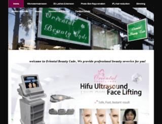 orientalbeautycode.com screenshot