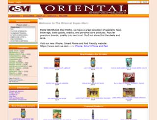 orientalsuper-mart.com screenshot