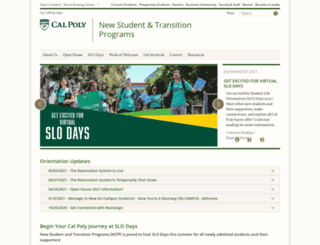orientation.calpoly.edu screenshot