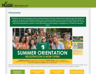 orientation.gmu.edu screenshot