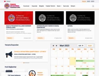 orienteering.org.tr screenshot