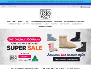originaluggboots.com.au screenshot