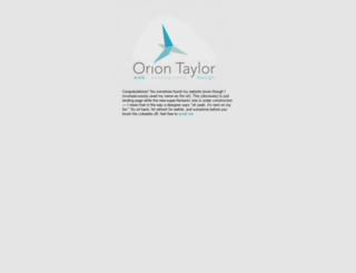 oriontaylor.com screenshot