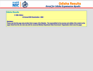 orissaresults.nic.in screenshot