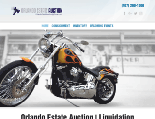 orlandoestateauction.com screenshot