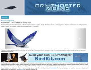 ornithopter.org screenshot