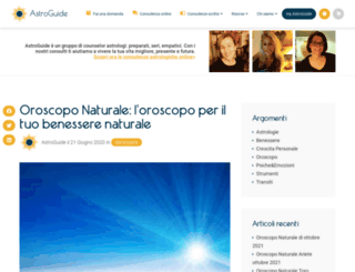 oroscoponaturale.it screenshot