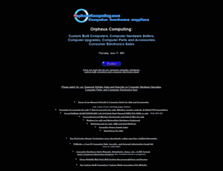 orpheuscomputing.com screenshot