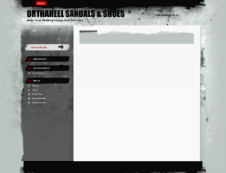 orthaheelsandals.wordpress.com screenshot