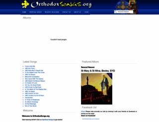 orthodoxsongs.org screenshot