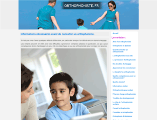 orthophoniste.fr screenshot