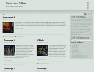 oscarvandillen.com screenshot