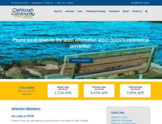 oshkoshcommunitycu.com screenshot