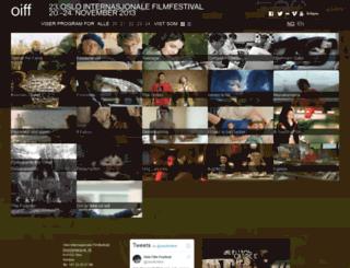 oslofilmfestival.com screenshot