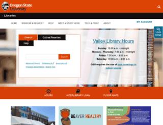 osulibrary.oregonstate.edu screenshot
