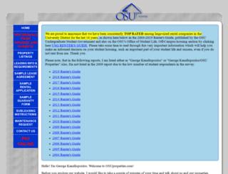 osuproperties.com screenshot