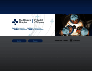 ottawahospital.on.ca screenshot