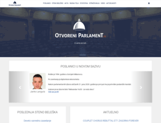 otvoreniparlament.rs screenshot
