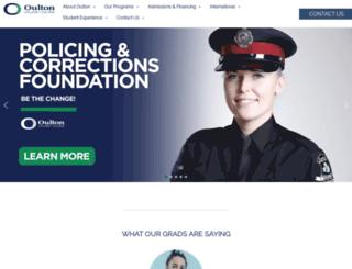 oultoncollege.com screenshot