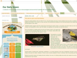 ourdailygreenlife.blogspot.com screenshot