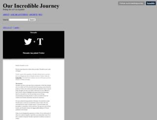 ourincrediblejourney.tumblr.com screenshot