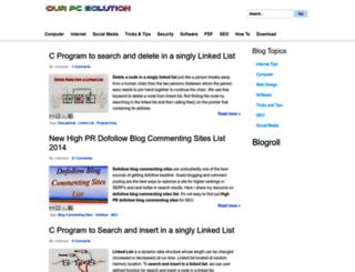ourpcsolution.blogspot.in screenshot