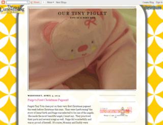 ourtinypiglet.blogspot.com screenshot