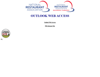 outlook.restaurant.org screenshot