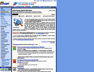 outlookexpress.duplicatekiller.com screenshot