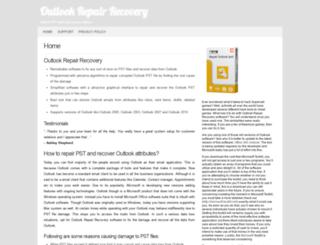 outlookrepairrecovery.com screenshot