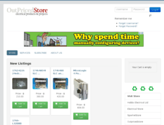 outpricedstore.com screenshot