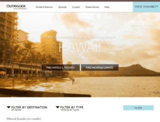 outriggerhawaii.com screenshot