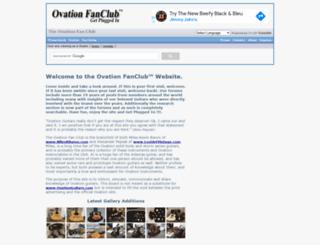 ovationfanclub.com screenshot