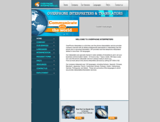 overphoneinterpreters.com screenshot