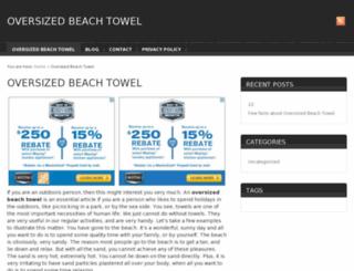 oversizedbeachtowel.org screenshot