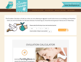 ovulationcalculator.ie screenshot