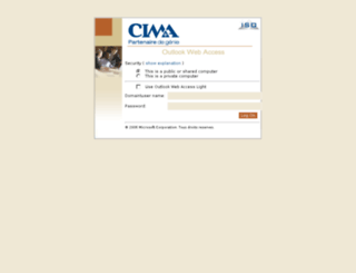 owa.cima.ca screenshot