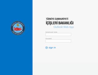 owa.icisleri.gov.tr screenshot