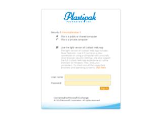 owa.plastipak.com screenshot