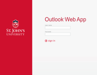 owa.stjohns.edu screenshot
