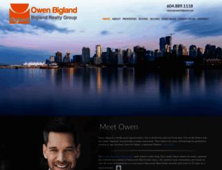 owenbigland.com screenshot