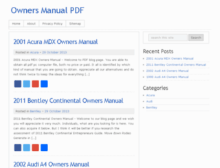 owners-manual.hol.es screenshot