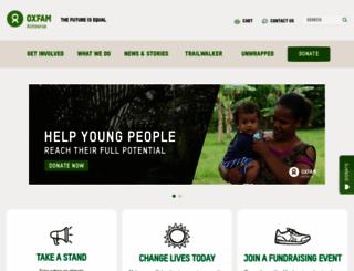 oxfam.org.nz screenshot