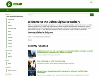 oxfamilibrary.openrepository.com screenshot