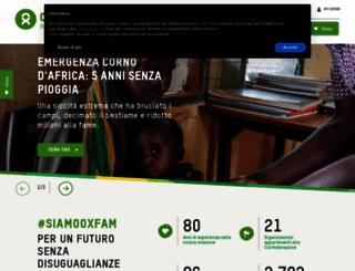 oxfamitalia.org screenshot