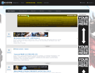 oxigen-top100.com screenshot